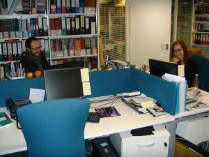 Will and Natasha - the OAE's Marketing team