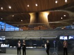 Interior of the Senedd, home of the Welsh Assembly