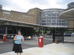 Megan outside Television Centre