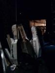 Paris - bass cases backstage