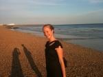 Rebecca Stockwell on the beach