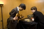 Violinists Ken Aiso and Matthew Truscott