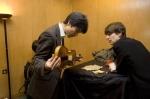 Violinists Ken Aiso and Matthew Truscott