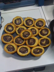 Lisa ginger choc tartlets