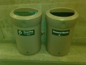 Recycling at Sheffield City Hall